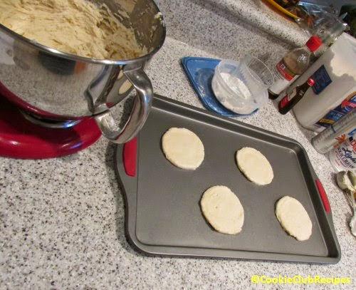 large size cookies about 2 - 4 per baking sheet