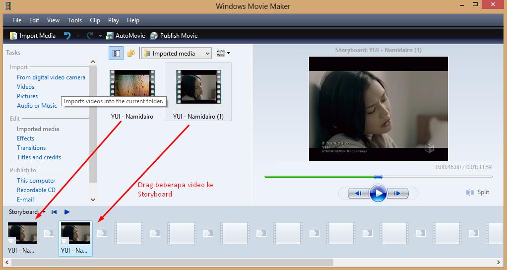 Cara Menyambung Beberapa Video Dengan Windows Movi Maker
