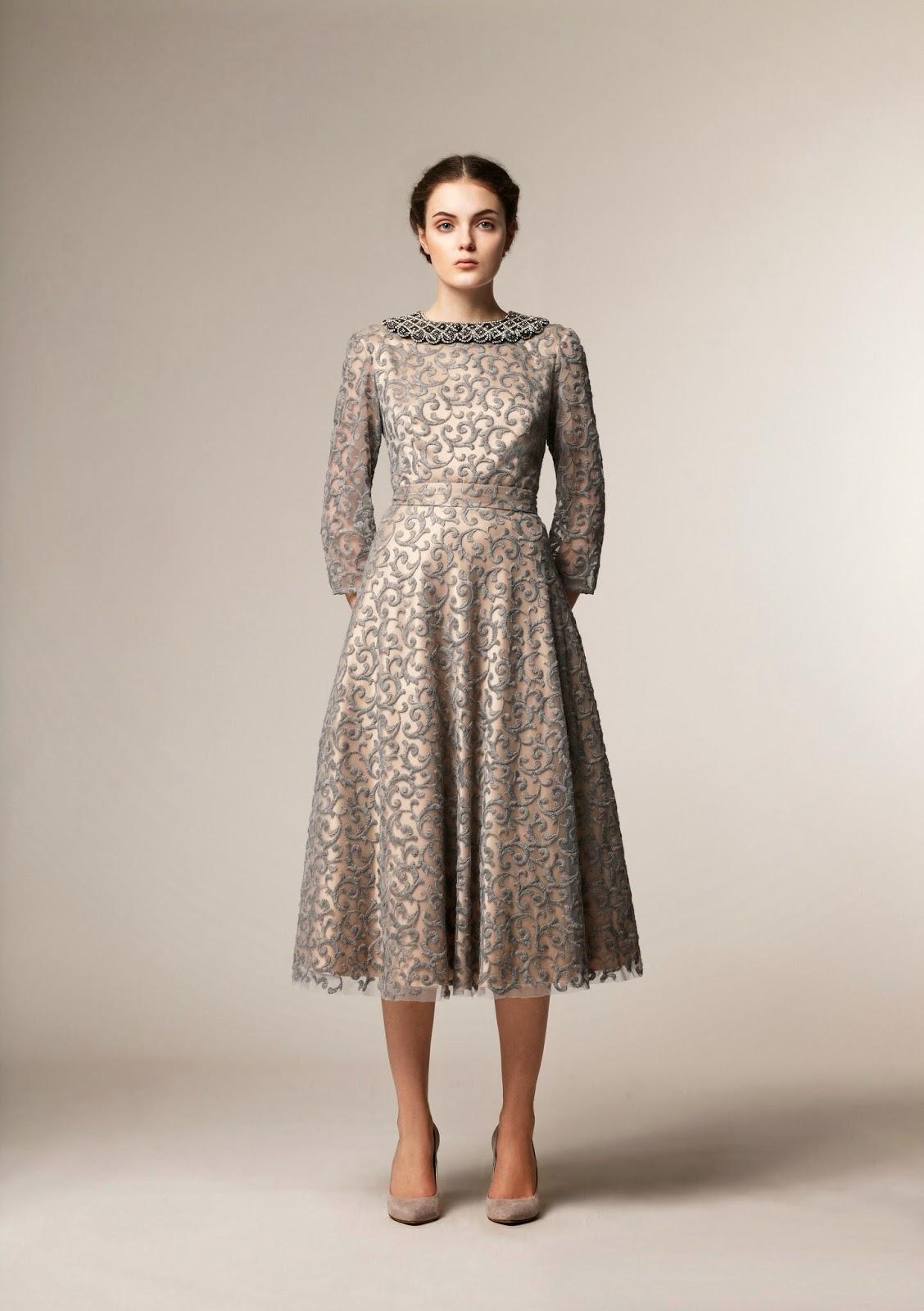 Roomy long sleeve metallic midi dress loose modest dress