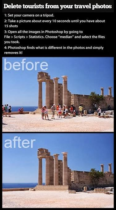 Remove Tourists from your Travel Photos