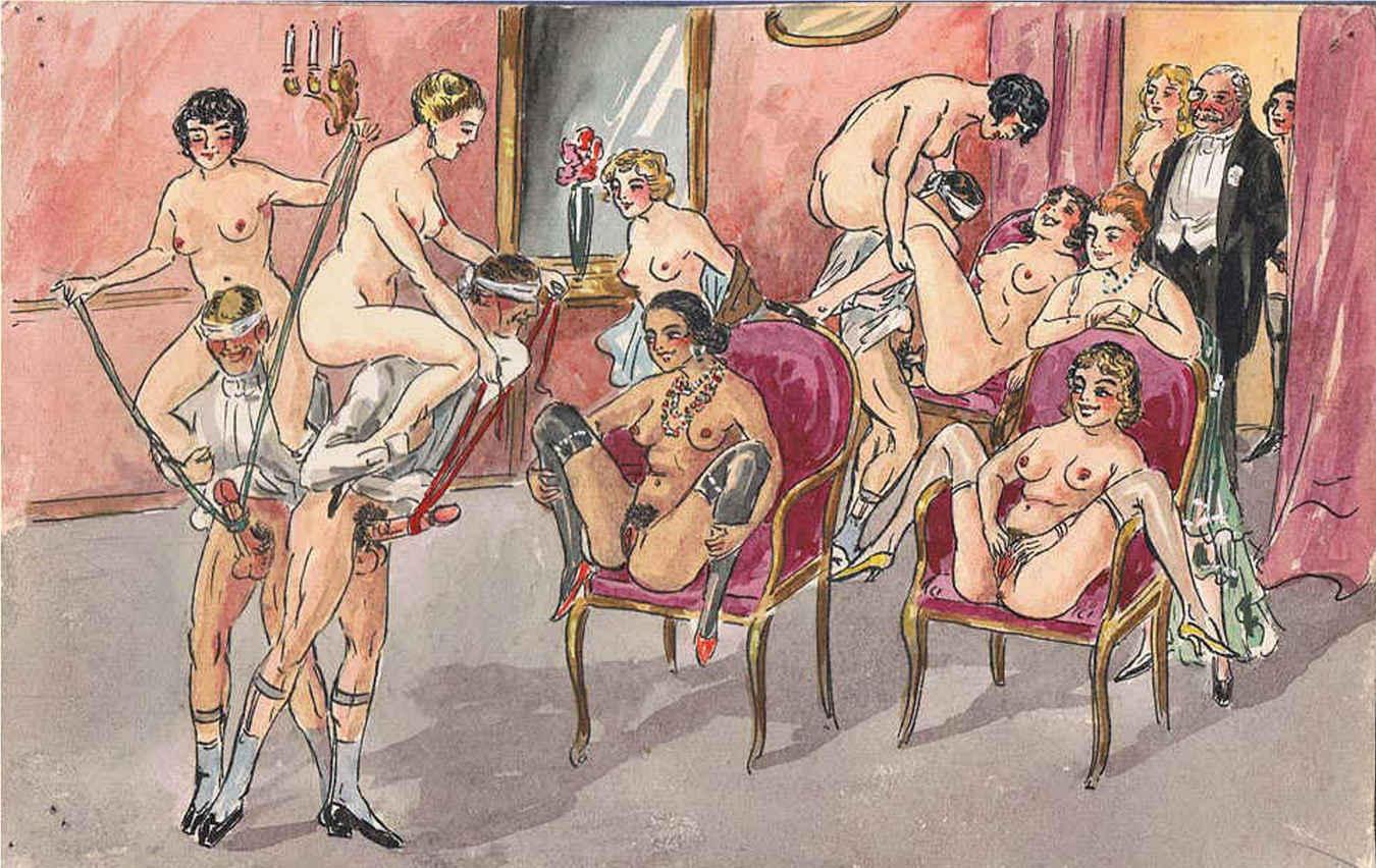Старинные рисунки о сексе 27 фотография