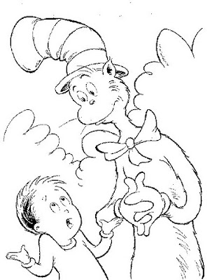 dr. Seuss Hat Coloring Pages