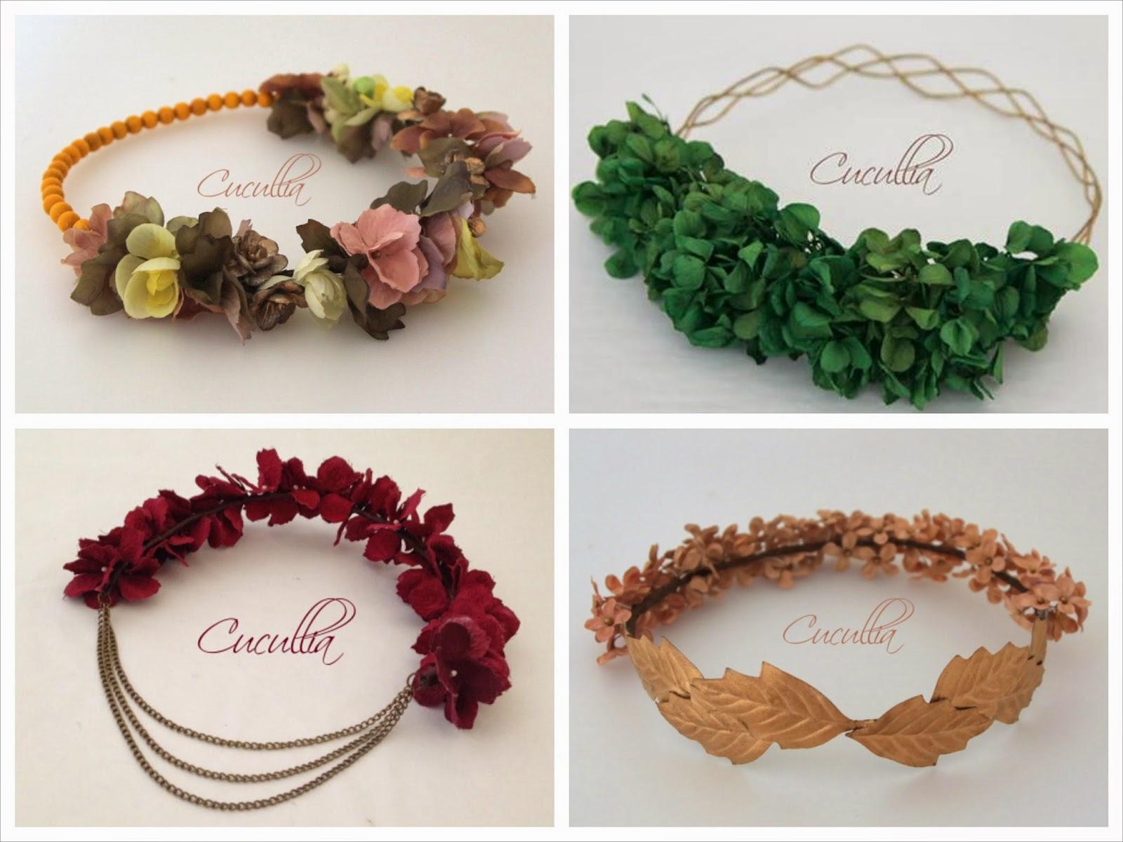 Coronas de flores y turbantes by cucullia sweet bodas - Como hacer adornos para el pelo ...