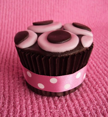choc button cupcake