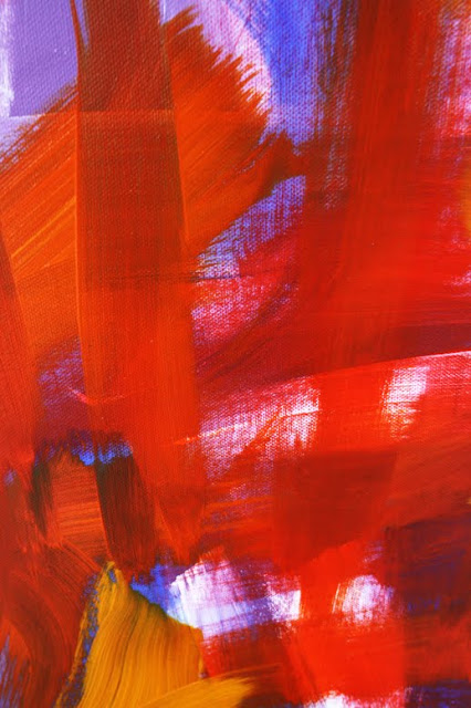 Marc Lawrence Abstract Canvas Acrylic Painting 01