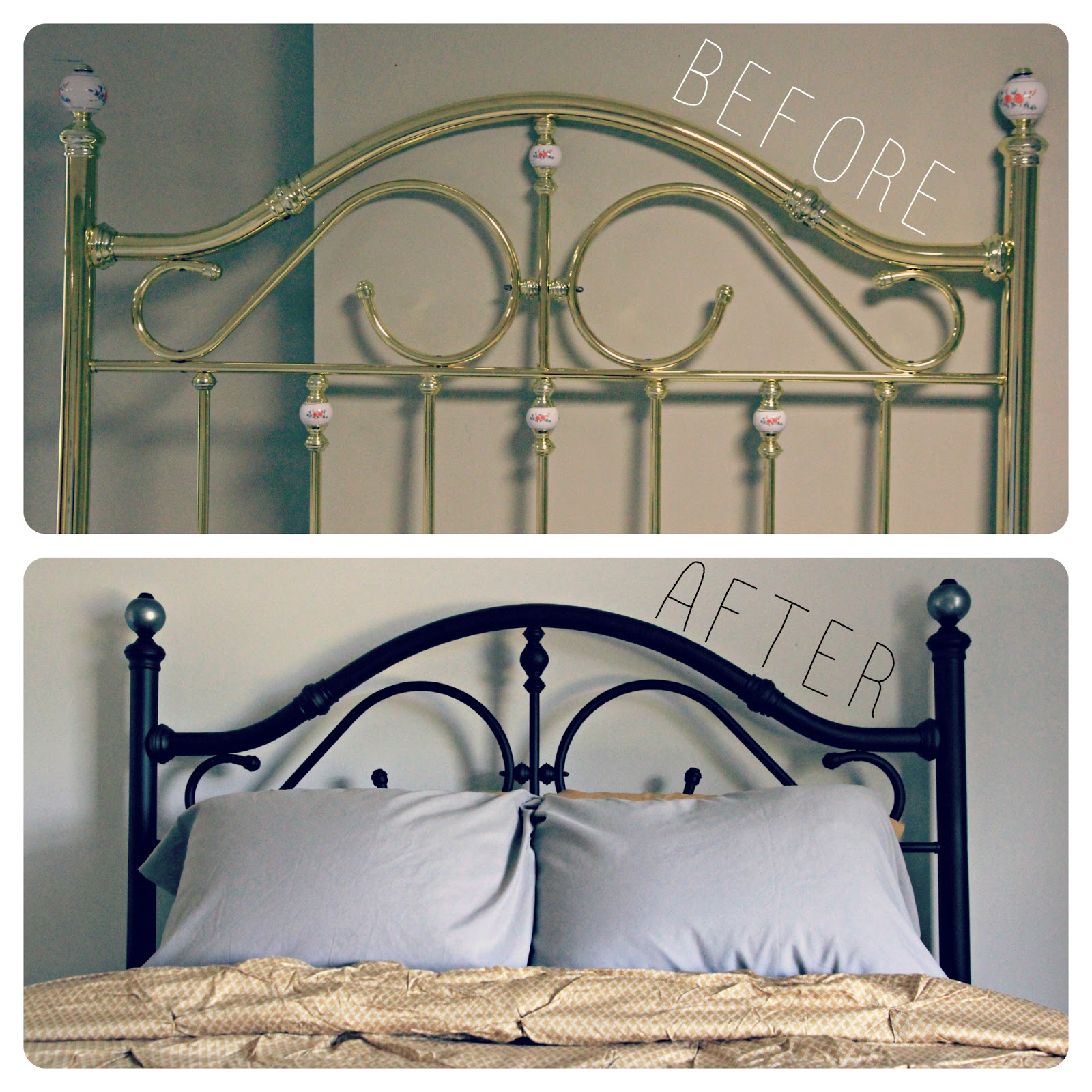 metal bed frame makeover. Black Bedroom Furniture Sets. Home Design Ideas