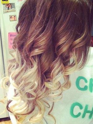 puntas de colores en peinados 2014