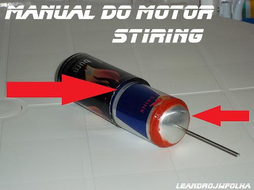 Manual do motor Stirling, cilindro e pistão deslocador