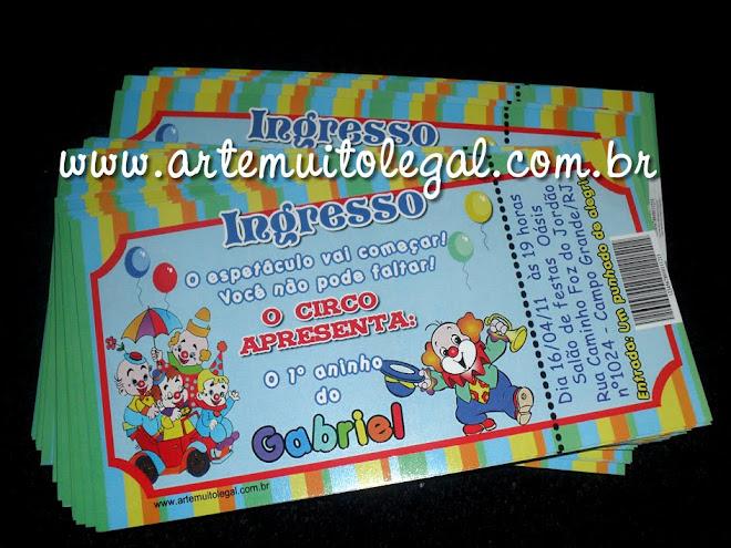 Arte muito legal -  Convites infantis e lembrancinhas Arte muito legal