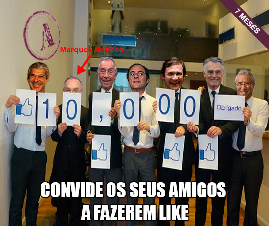 10.000 LIKES – OBRIGADO (com a presença de 7 políticos)