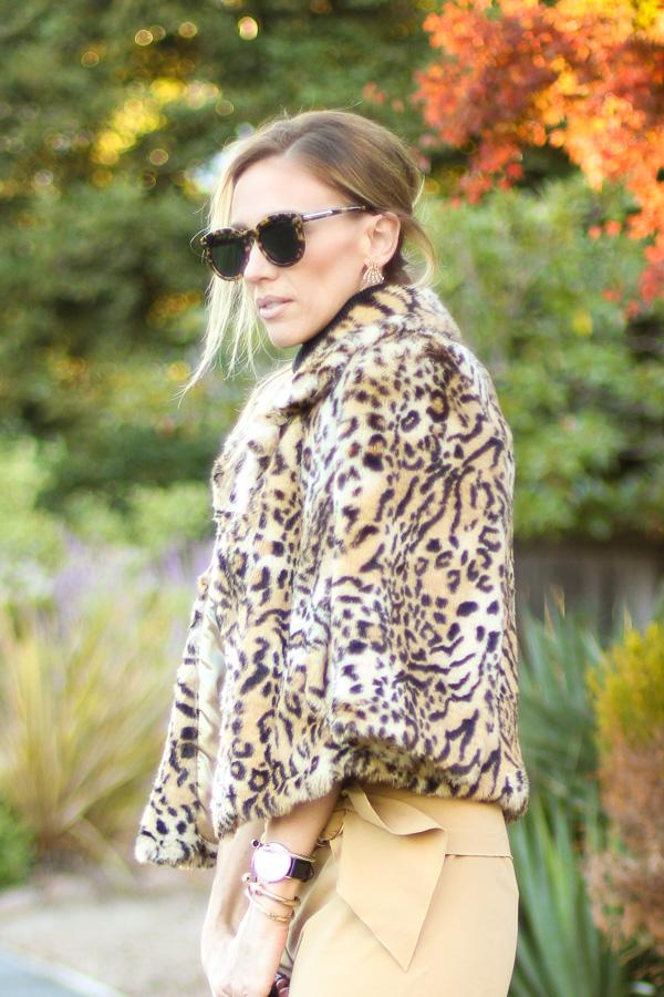 fall faux fur coats leopard print coat forever 21