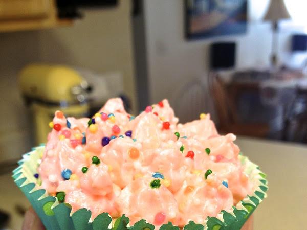 Pink Soda Funfetti Cupcakes