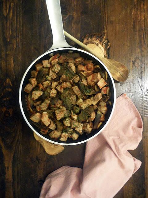 spezzatino di vitella con carciofi e paprika