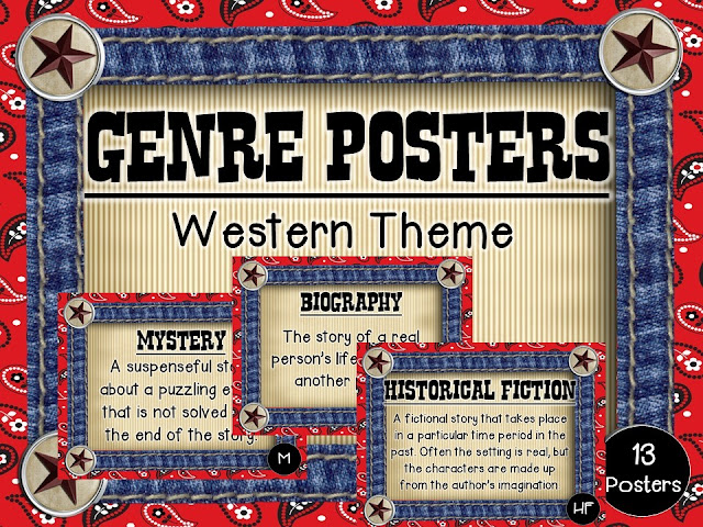https://www.teacherspayteachers.com/Product/Genre-Posters-Western-Theme-1991646