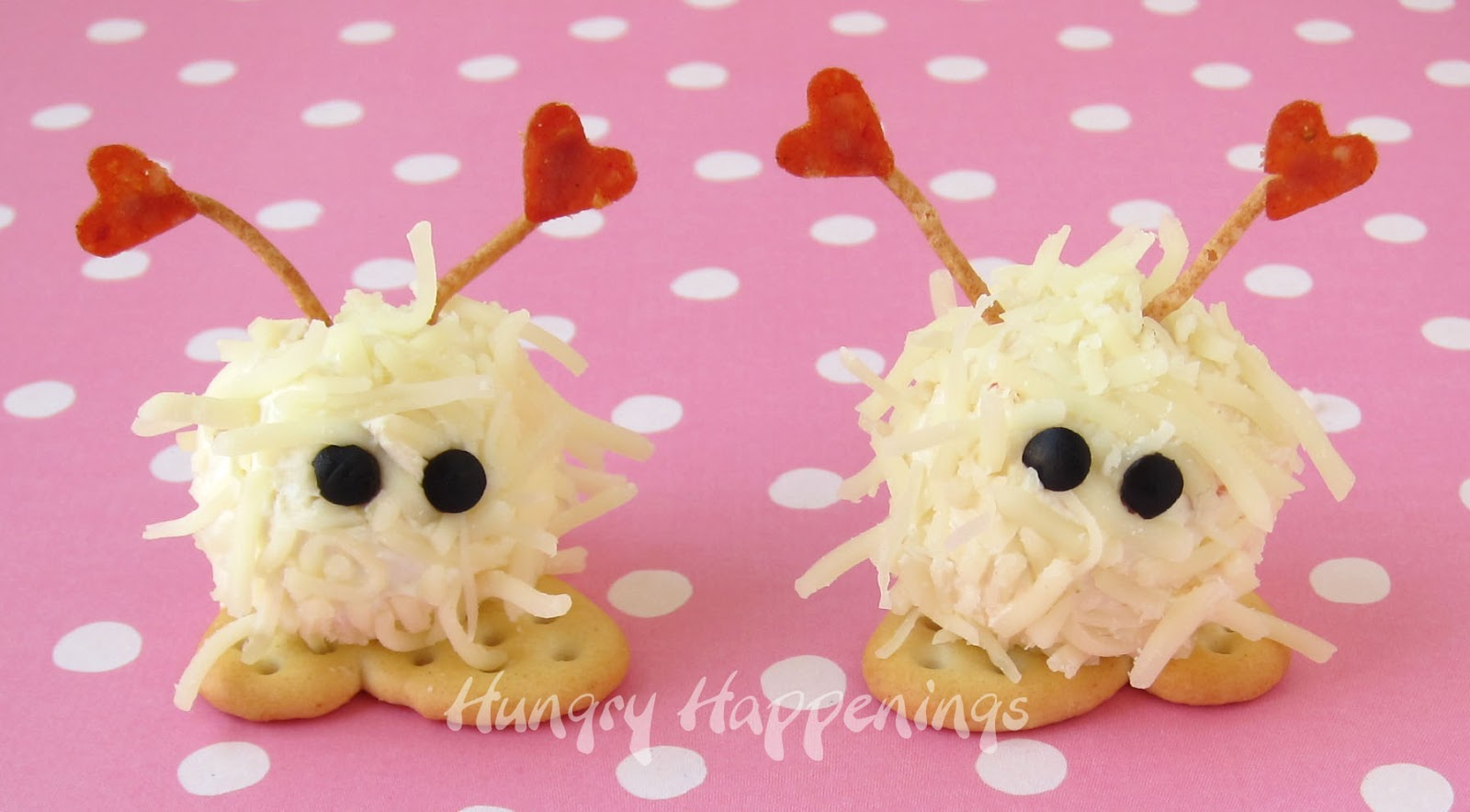 mini cheese ball warm fuzzies a cute valentines day snack - Valentines Day Meal Ideas