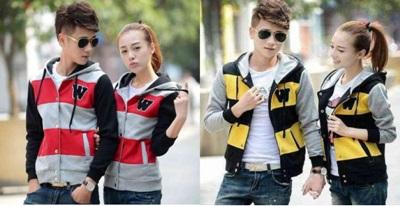 Jual Jacket W Neo Couple Online Murah di Jakarta Lengan Panjang Trendy