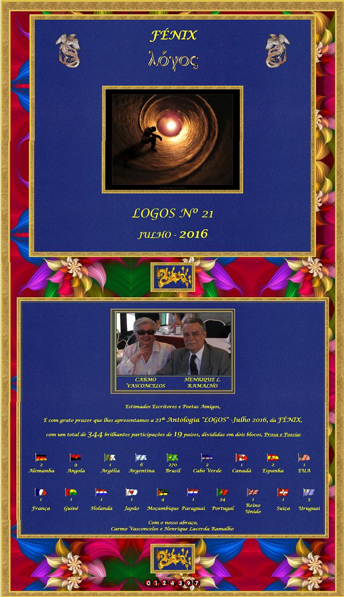 "Antologia ""LOGOS 21"" Julho 2016:Poema: AMAZÔNIA:"