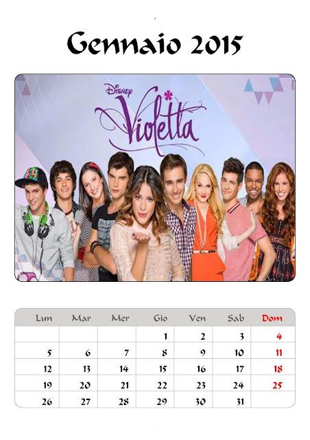 calendario 2015 violetta