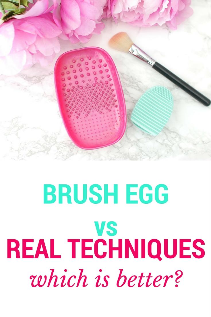 Elle Sees Beauty Blogger In Atlanta Brush Egg Vs Real Techniques Cleansing Palette