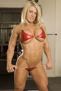 in lingerie women Bodybuilder