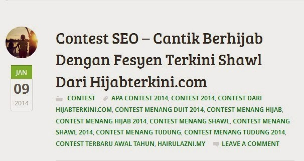 artikel from topseofriendly, entri terbaik keyword contest seo, page 1 SERP google.com search