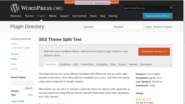 SES Theme Split Test