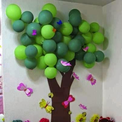 Painel para o dia da rvore diversos exemplos de murais for Tipos de arboles decorativos