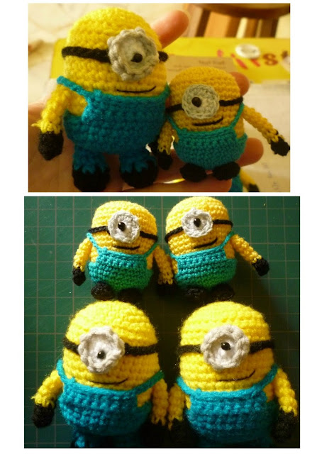 Crochet Minion Toy Amigurumi Minion cute pattern despicable me crochet gift