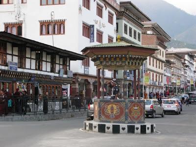 bután - guardia de tráfico