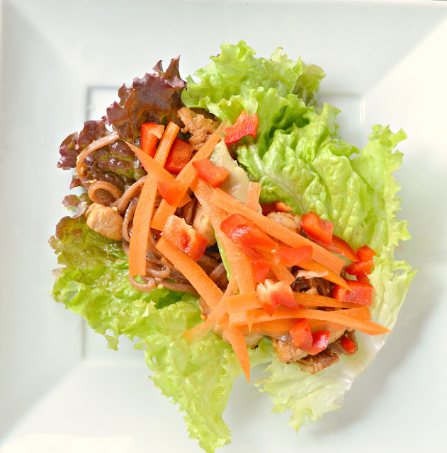 Lettuce Wraps With Stir-Fry Rice Noodles