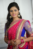 Sri Mukhi Gorgeous Half saree Photos-thumbnail-10