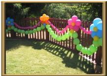 Como adornar el patio con globos el jardin con globos for Como puedo arreglar mi jardin