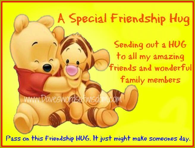sending hugs to friends