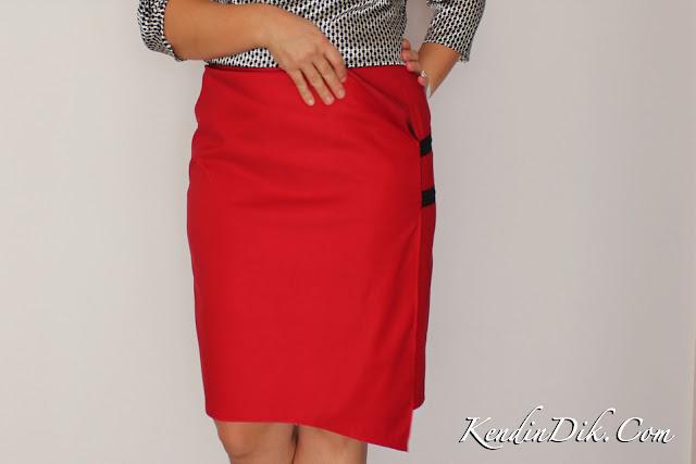 red skirt design