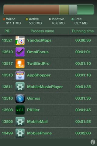 Process Killer Application for iPhone IPad