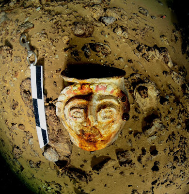 Maya ceramics and mural paintings found in three underwater caves in Mexico