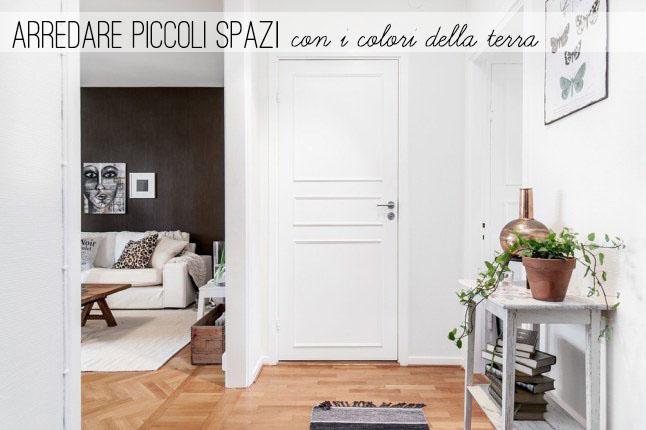 Arredare piccoli spazi] Con i colori della terra - Small Living Room