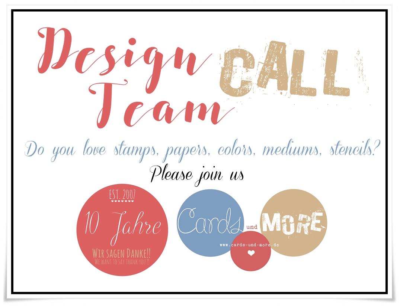 Design Team Call ** worldwide open **