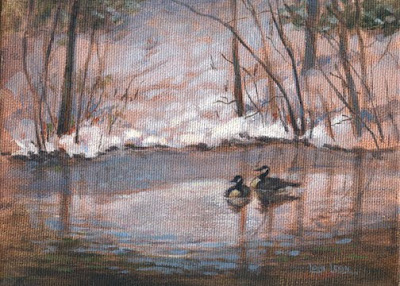 Landscape painting by Lori Levin