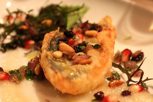 Crispy mackerel escabeche