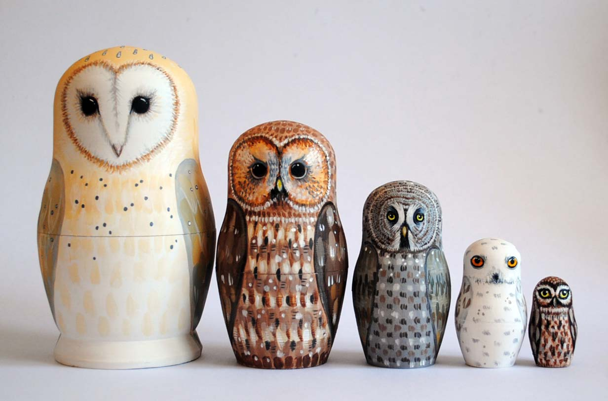 Russian Nesting Dolls Owls Recent Owl Nesting Dolls