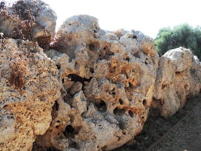 Walls surrounding Talayot settlement S'Illot Mallorca