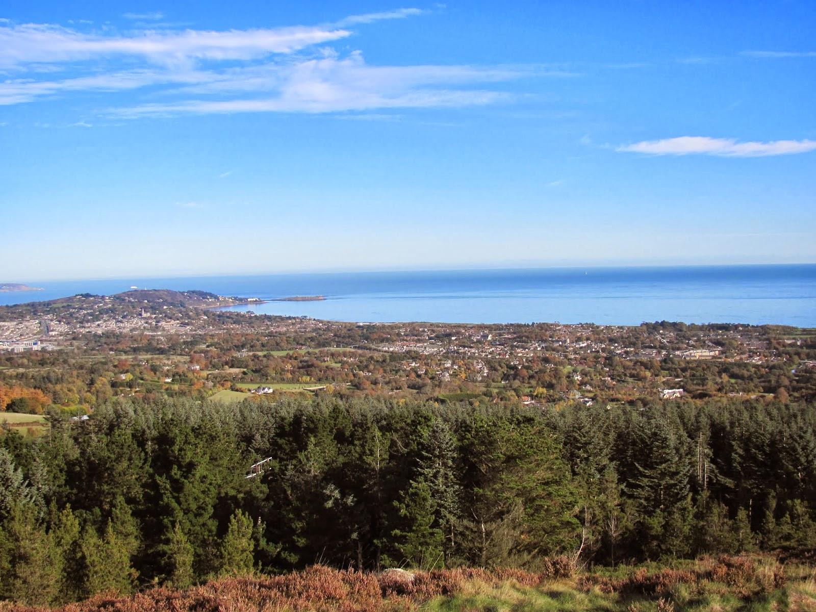 One side of the view from the peak of Carrickgolligan Co. Dublin