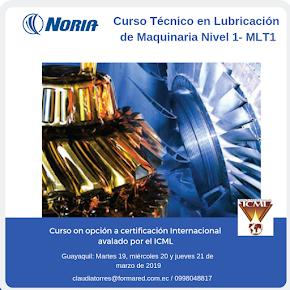 Curso Abierto para certificación: Técnico en lubricación de maquinaria nivel I (MLT-I) 2019
