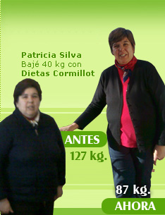 127 kilos 87 kilos dieta cormillot antes y despues