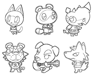 #21 Animal Crossing Coloring Page