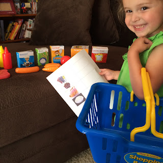 play and learning shopping basket toy #thelearningjourney