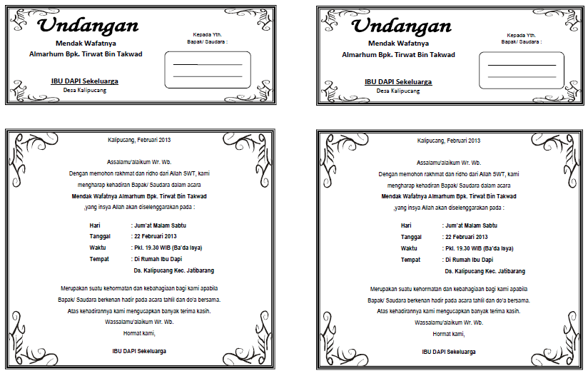 download template undangan pernikahan coreldraw