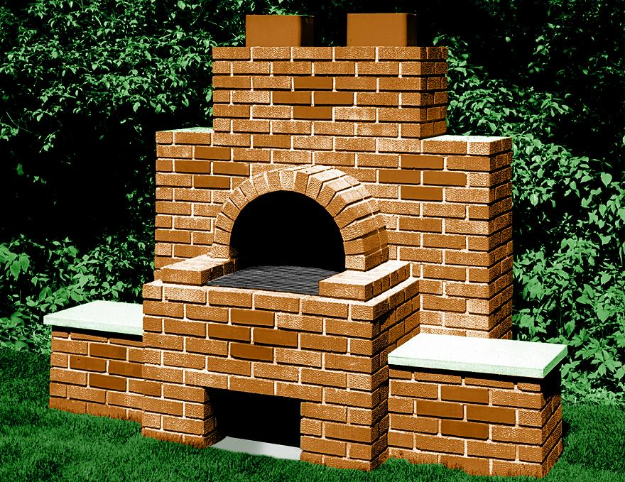 backyard bbq brick grill and fire pit designs. Black Bedroom Furniture Sets. Home Design Ideas