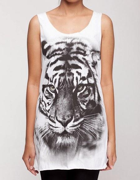 White Tiger Shirts For Girls Animal Print For Girls